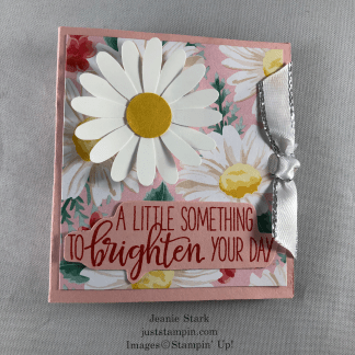 Stampin' Up! Paper Pumpkin Box of Sunshine stamp set with Daisy punch and Flowers for Every Season lip balm holder - Jeanie Stark StampinUp