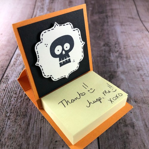 Stampin' Up! Mini Post It Note Holder created by Susan Itell - for more ideas visit juststampin.com - Jeanie Stark StampinUp