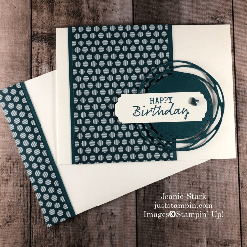 Stampin' Up! 2019 - 2021 In Color Painted Poppies birthday card idea with Seaside Notions - Jeanie Stark StampinUp