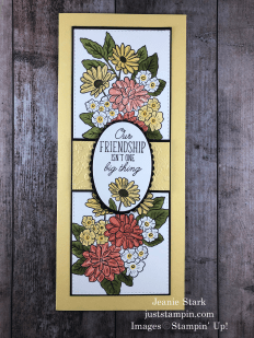 Stampin' Up! Beauty Abounds and Ornate Style Slimline card idea for a friend - Jeanie Stark StampinUp