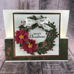 Stampin\' Up! Arrange A Wreath fun fold Christmas card idea - Jeanie Stark StampinUp