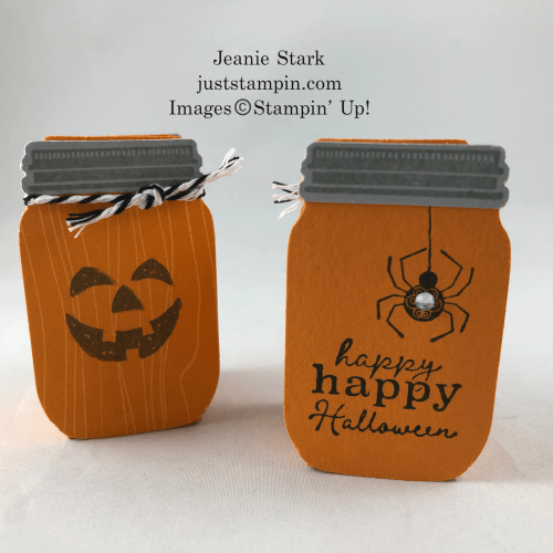Stampin' Up! Little Treats Jar idea with Harvest Hellos and the Jar Punch - Jeanie Stark StampinUp