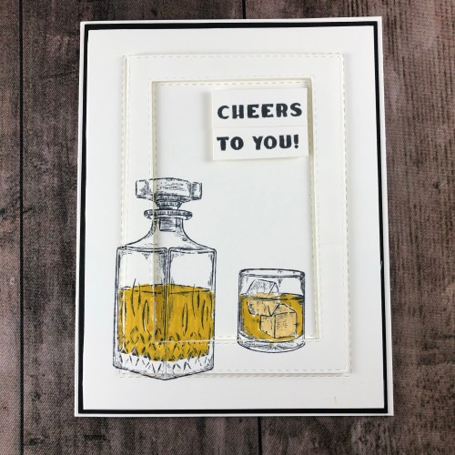 Stampin' Up! Whiskey Business masculine birthday card idea- Jeanie Stark StampinUp