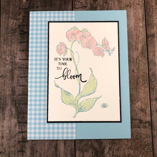Stampin' Up! Gingham Floral card idea- Jeanie Stark StampinUp