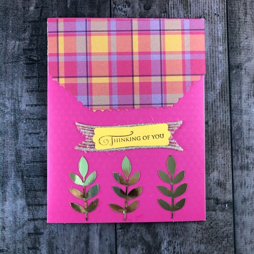 Stampin' Up! Perfectly Plaid Thinking of You card idea - Jeanie Stark StampinUp