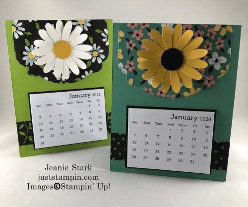 Stampin' Up! Celebration Labels Dies and Flower & Field 2021 Calendar card - visit justampin.com to find out how you can get one of these for FREE- Jeanie Stark StampinUp