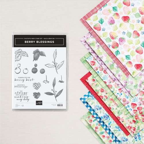 Stampin' Up! Berry Blessings Bundle - FREE with a $100 purchase during Sale-A-Bration - Visit juststampin.com for inspiration and ordering information - Jeanie Stark StampinUp