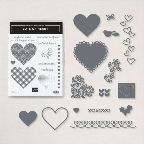 Stampin' Up! Lots of Heart Bundle - for inspiration, free tutorials, and ordering information visit juststampin.com - Jeanie Stark StampinUp