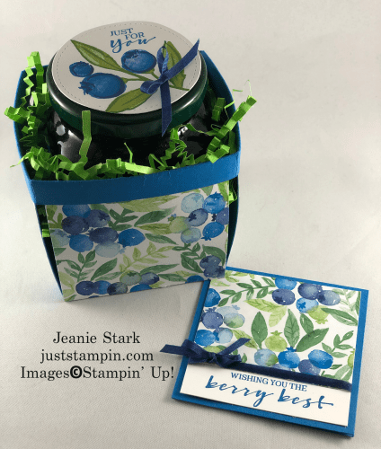 Stampin' Up! Berry Blessings berry basket and coordinating note card gift set idea - Jeanie Stark StampinUp