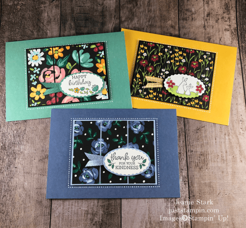 Stampin' Up! Oval Occasions Flower & Field Memories & More all occasion card ideas - Jeanie Stark StampinUp