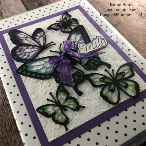 Stampin' Up! Daisy Lane ad Butterfly Beauty altered stamp case for gift idea - Jeanie Stark StampinUp