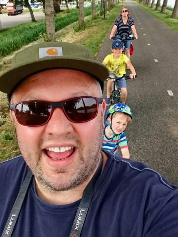 Bike selfie on Kanaaldijk West