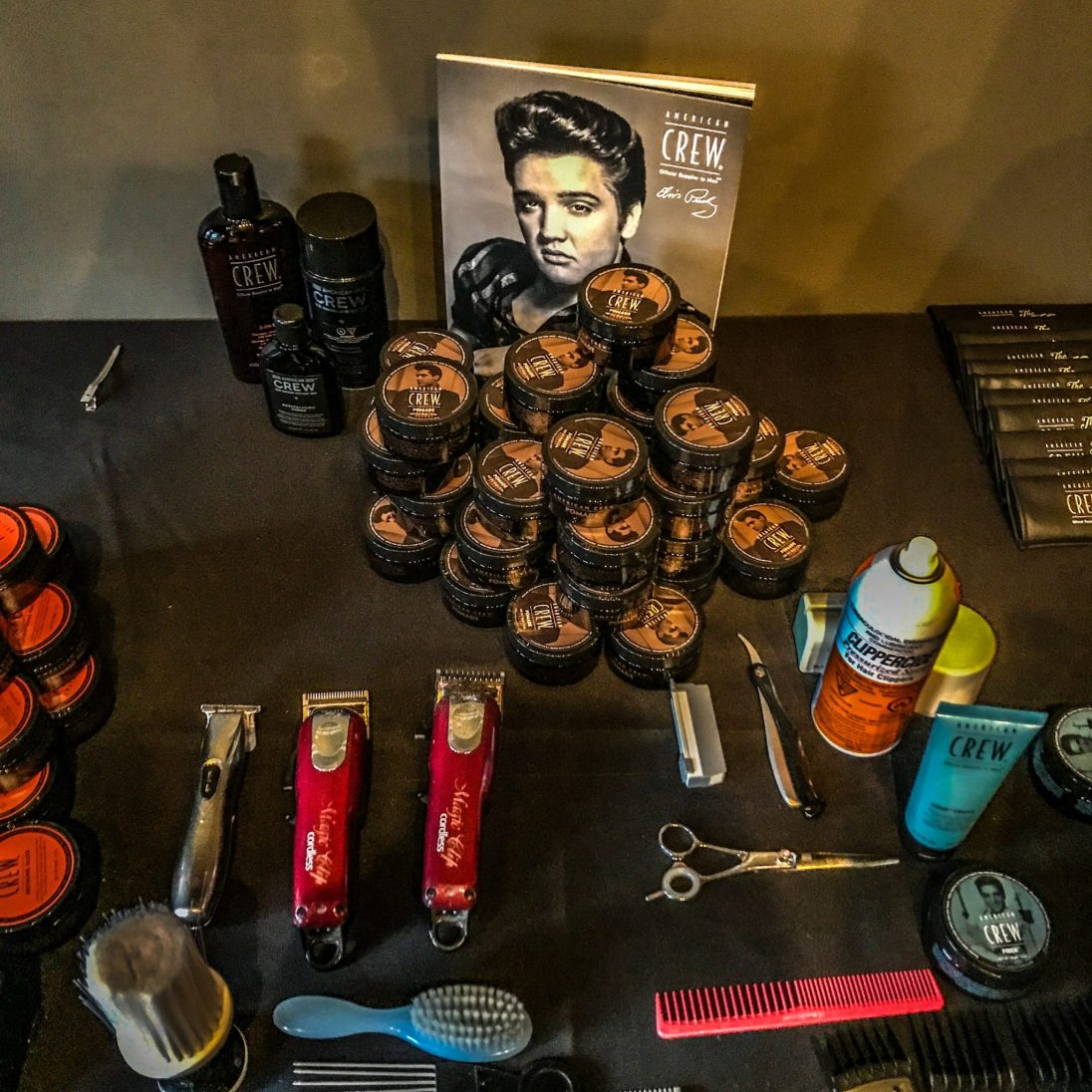 Hairstyling and Products courtesy of American Crew