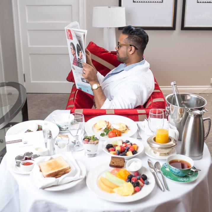 king edward in room breakfast