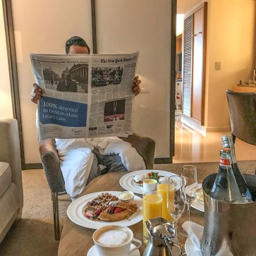 Just Sultan Sandur - Conrad NYC - Breakfast