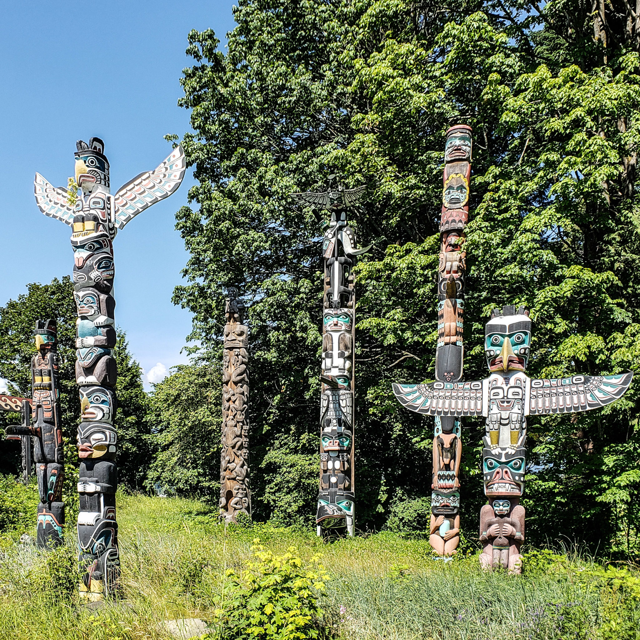 Vancouver - Canada - British Columbia - Totems - Stanley Park