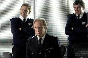 With Marlin Freeman and Steve Koogan in Hot Fuzz.