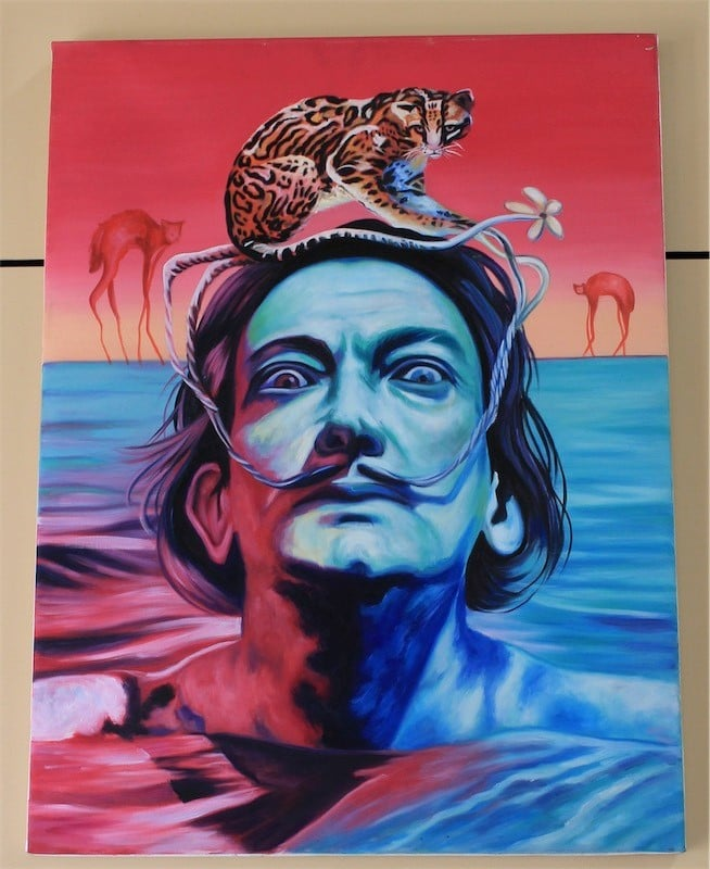 Oil Hand Painted Canvas Salvador Dali Just The Thing