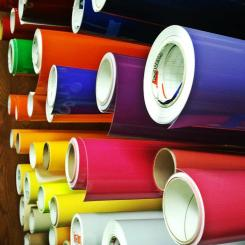 Colored poster rolls