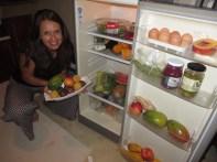 Our fridge while staying in Zinkwazi! We felt like we were in some sort of Health/Nutrition magazine photo shoot!