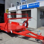 Car Trailer 4500 X 2000 Full Floor Red JUST TRAILERS ENGINEERING