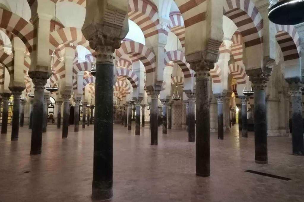 Inside La Mezquita in Cordoba