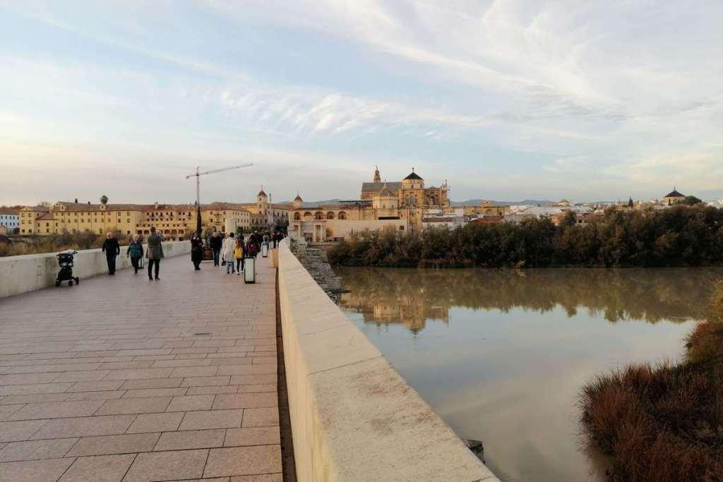 Looking back towards Cordoba from the bridge