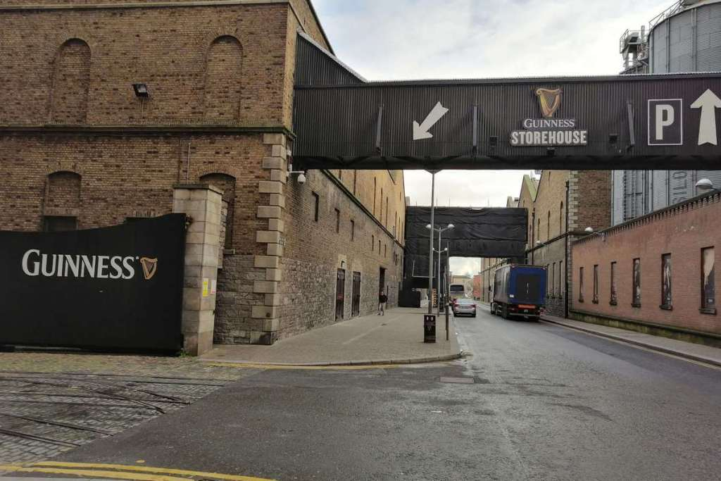 Entrance showing the way to the Guinness Storehouse
