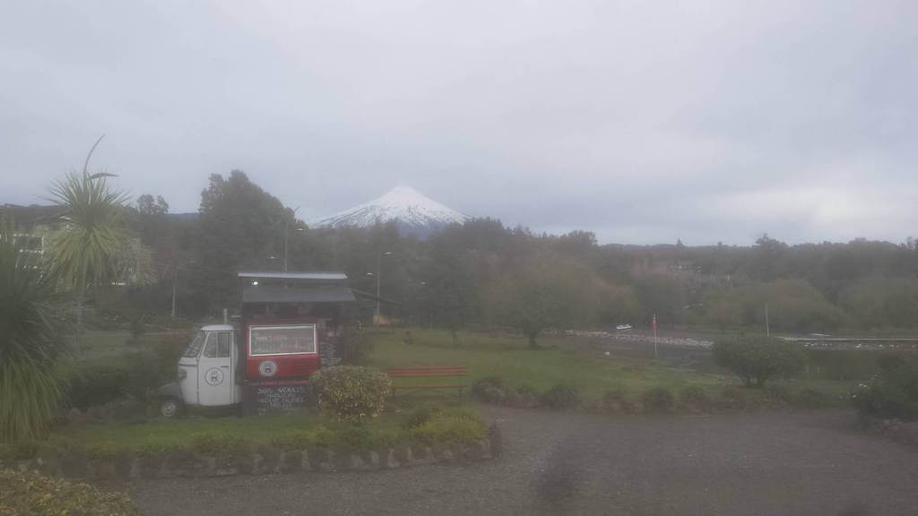 View of Mount Villarica from Pucon