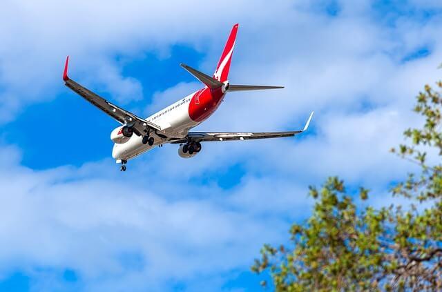 Virgin Australia plane in the sky