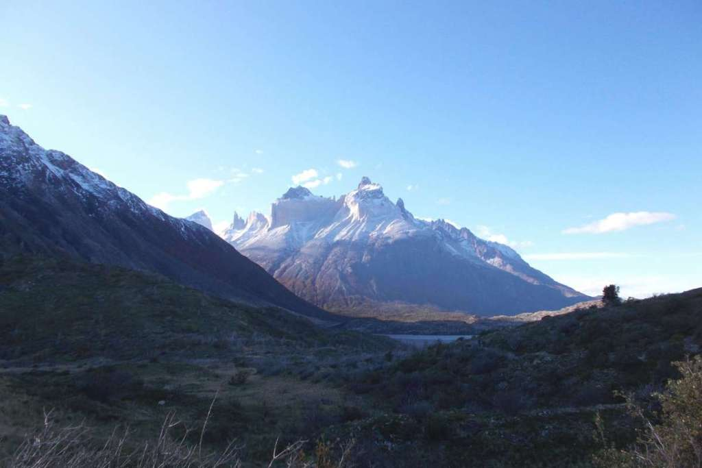 Patagonia scenery with mountains and lakes