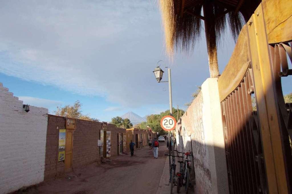 The main street in the centre of San Pedro de Atacama