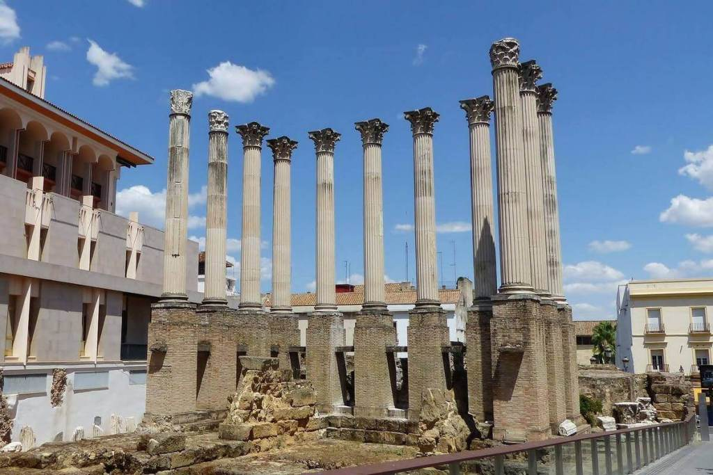 The Roman temple in the centre of Cordoba's old town