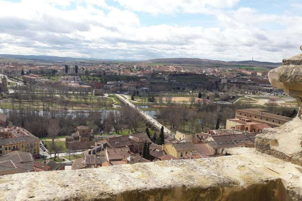 View overlooking Salamanca's Roman bridge