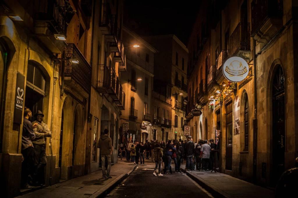 Salamanca streets at night
