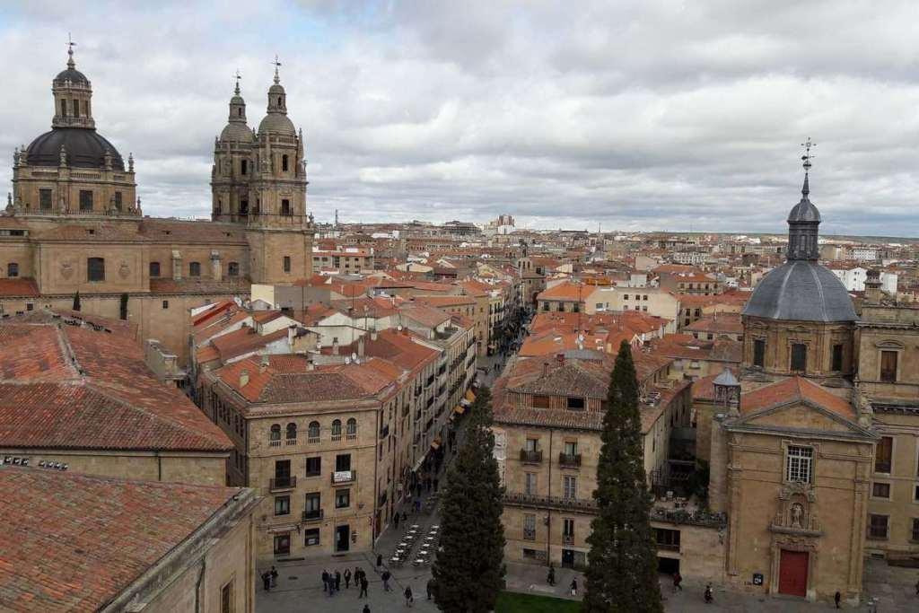 Rooftop view overlooking Salamanca's old town