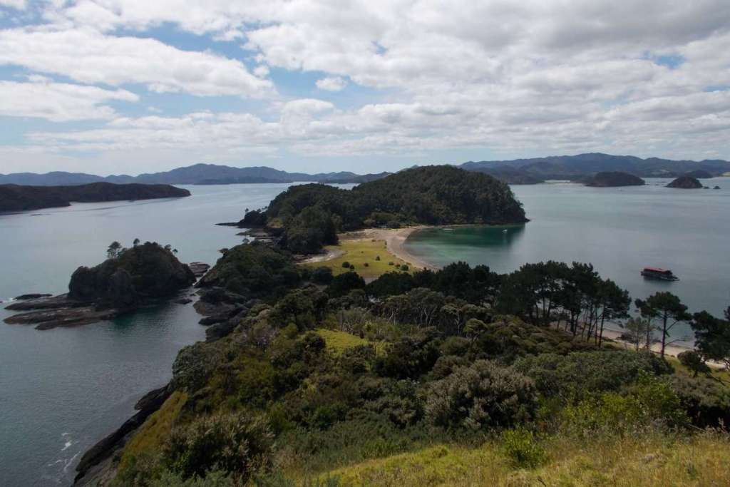 Overlooking the Bay of Islands, a top places to visit in the North Island