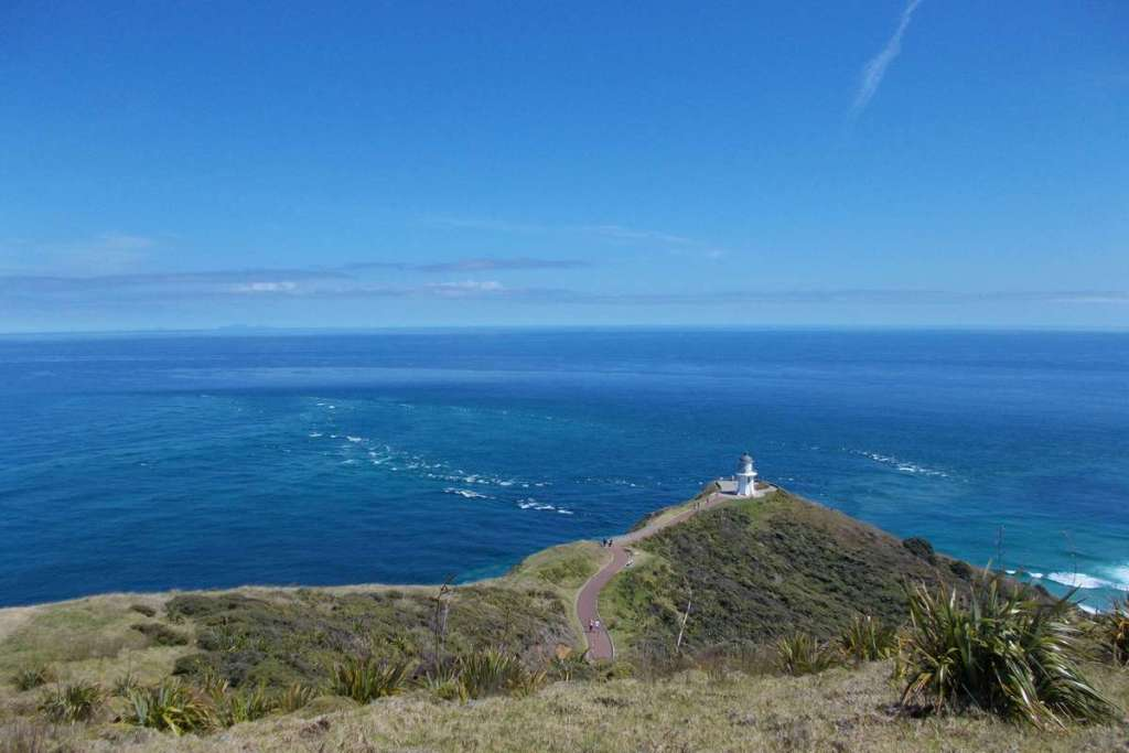 Cape Reinga lighthouse, the furthest point and one of the best places to visit in the North Island