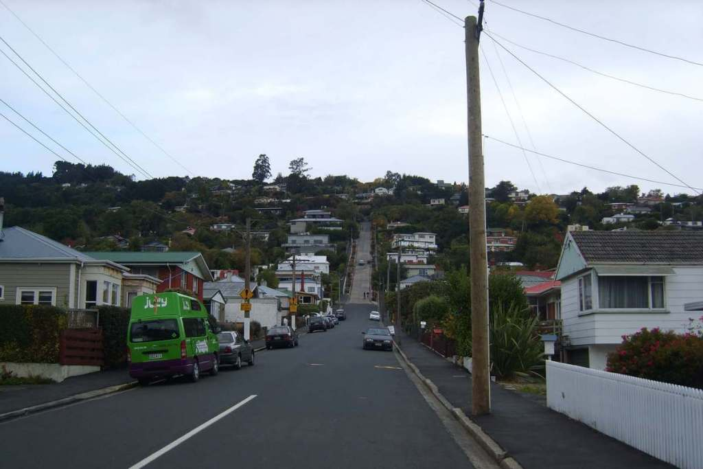 Baldwin Street in Dunedin, a South Island highlight