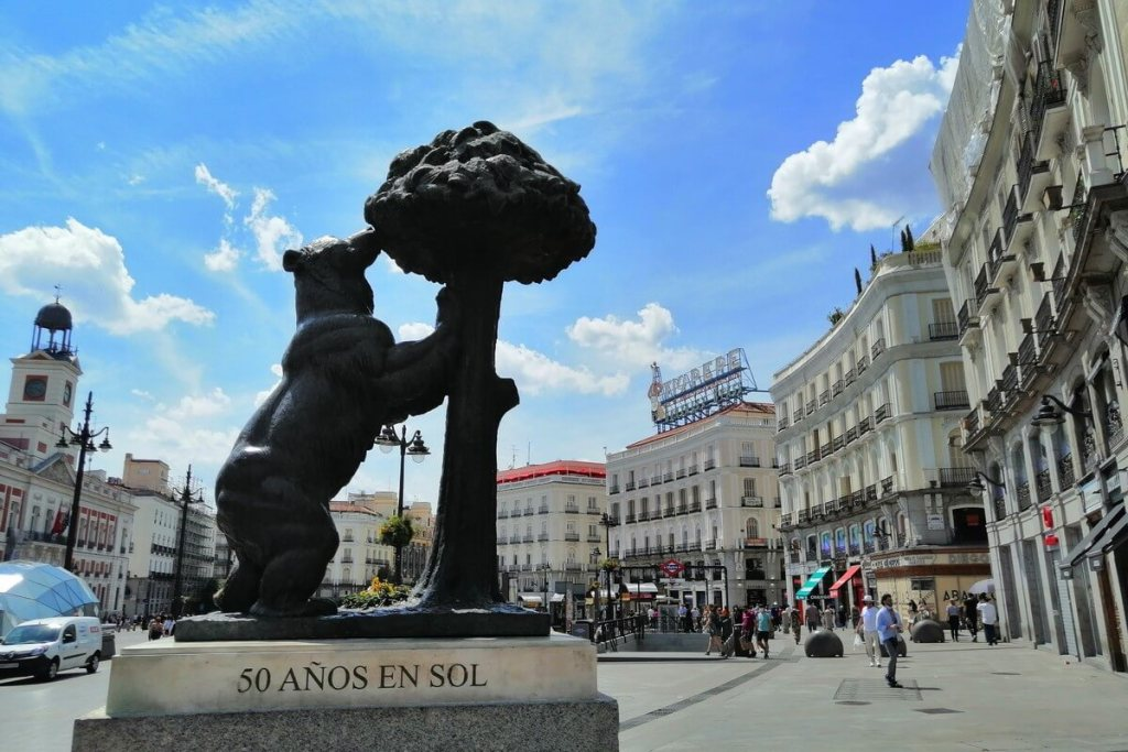 Puerta del Sol, centre of Madrid and the country