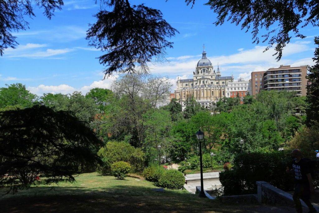 View of the cathedral from Jardín de las Vistillas