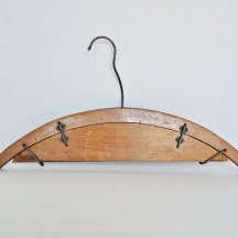 Rare, antique wood hanger made especially for holding pants.