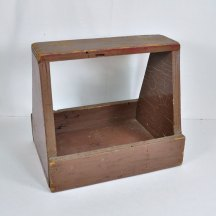 Primitive Wood Shoe Shine Box