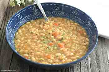 Slow Cooker White Bean Soup – Gluten Free & Vegan