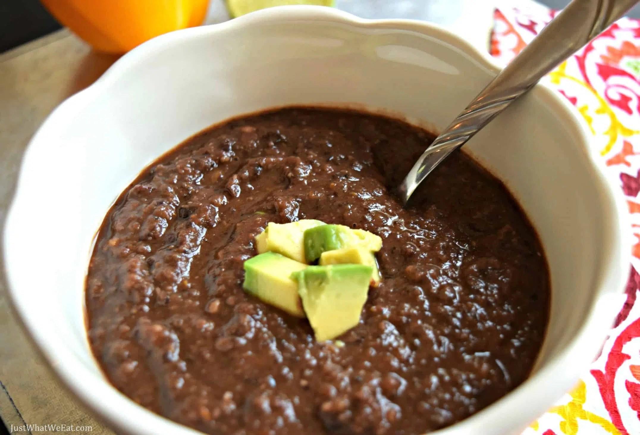 Slow Cooker Black Bean Soup - Gluten Free & Vegan
