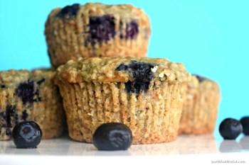 Blueberry Oat Muffins – Gluten Free, Vegan, & Refined Sugar Free