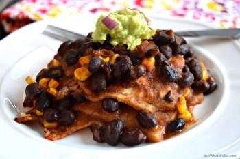 Enchilada Casserole – Gluten Free & Vegan