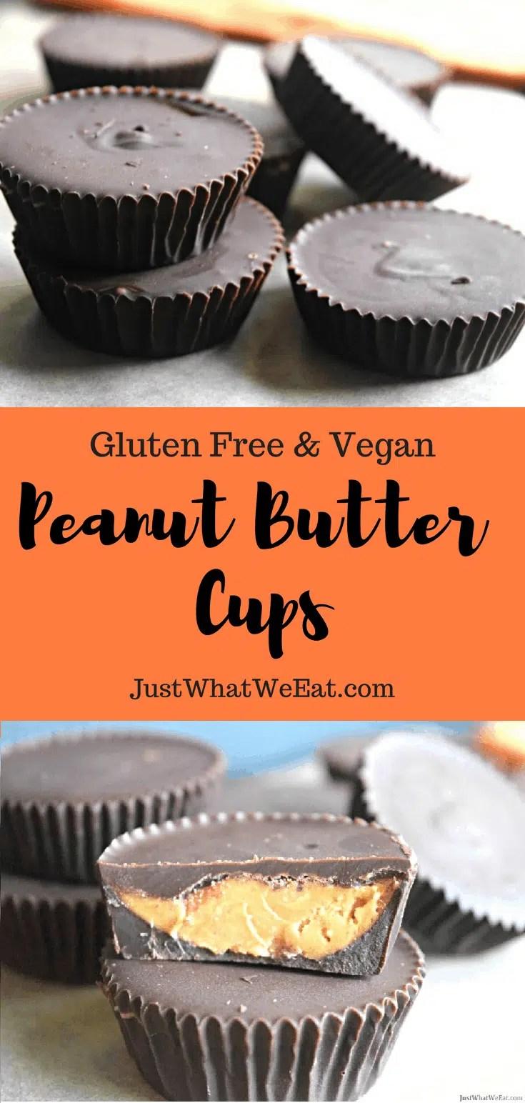 Peanut Butter Cups - Gluten Free, Vegan, & Refined Sugar Free