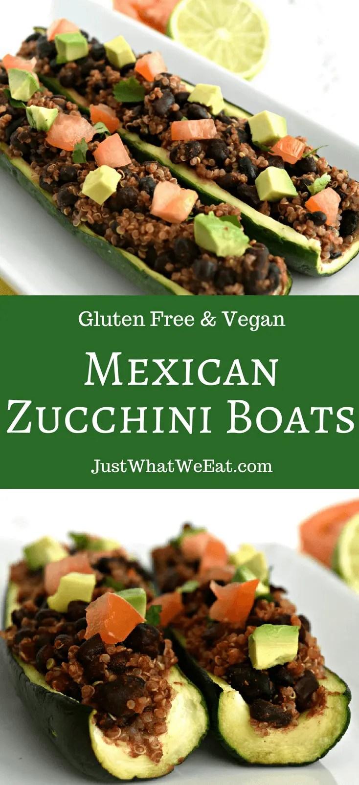 Mexican Zucchini Boats - Gluten Free & Vegan