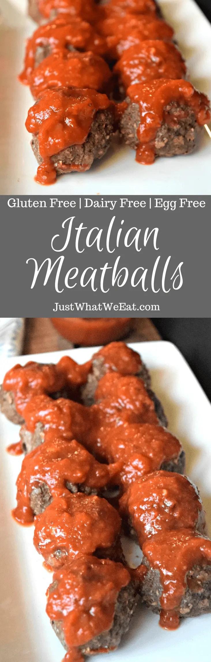 Italian Meatballs - Gluten Free, Dairy Free, & Egg Free